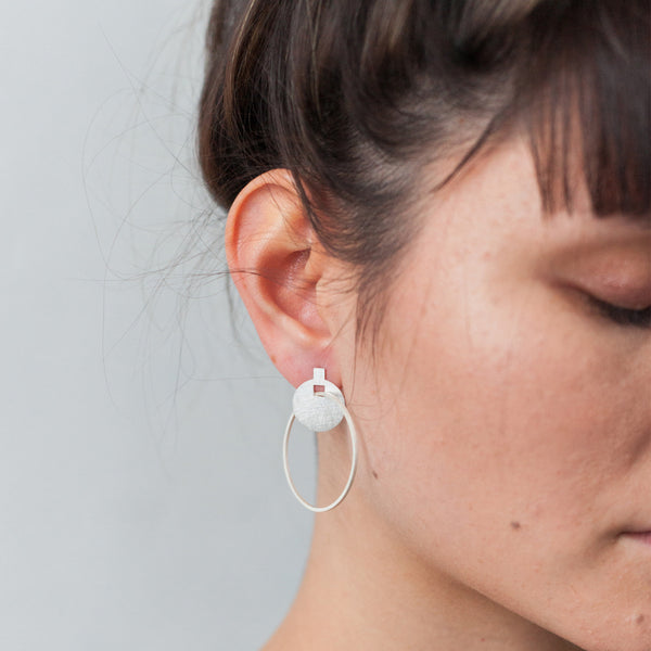 Around We Go Earrings - Silver