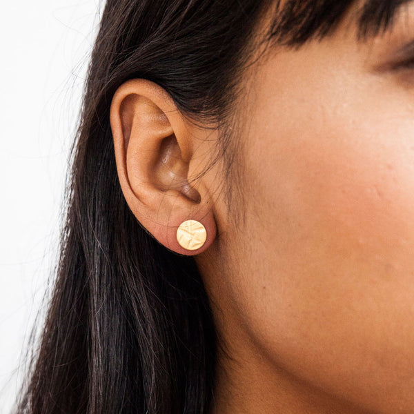 Textured Stud Earrings - Small