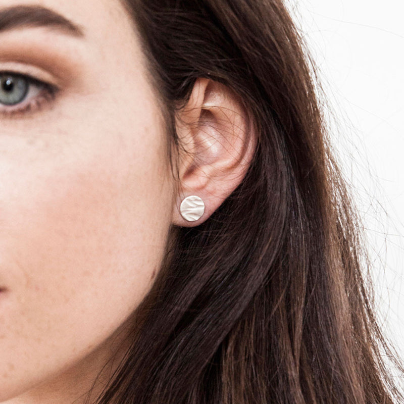 Textured Small Earrings
