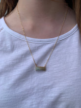 Load image into Gallery viewer, Rectangle Stone Bar Necklace