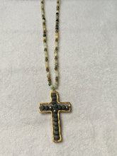 Load image into Gallery viewer, Gray Cross Necklace