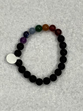Load image into Gallery viewer, Chakra Lava Bead Bracelet