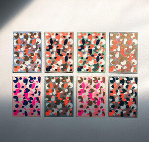 "Aline Meier - Riso Postkarten A6 – 8er Set ""OF MATCHING FAKE WILD WATERMELON"""