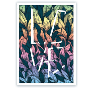 "Rips1 - Plakat ""Leave a leaf love"""