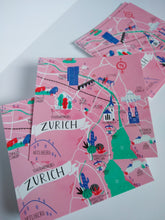 "Laden Sie das Bild in den Galerie-Viewer, Giulia Martinelli - Karte ""ZURICH MAP"""