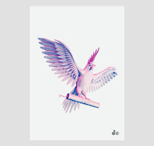 "Laden Sie das Bild in den Galerie-Viewer, David Odermatt - Plakat ""Badbird"" (pink/blau)"