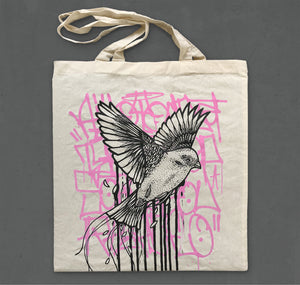 "Tens - Tasche ""Drippy Bird"" (rosa)"