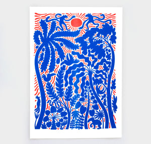 "Joël Roth - Plakat ""Red and Blue Jungle"""