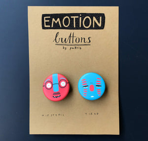 "Pattriz - Emotion buttons ""hipsteric & tired"""