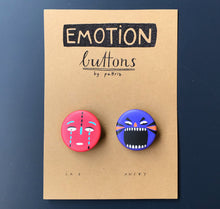 "Laden Sie das Bild in den Galerie-Viewer, Pattriz - Emotion buttons ""sad & angry"""