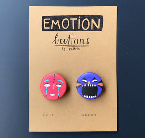 "Pattriz - Emotion buttons ""sad & angry"""