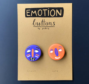 "Pattriz - Emotion buttons ""silly & cute"""