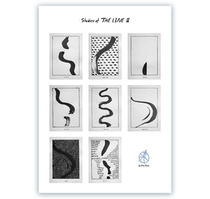 "Elena Könz - Plakat ""Studies of THE LINE II"""