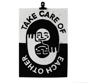 "Talinolou - Plakat ""take care of eachother"""