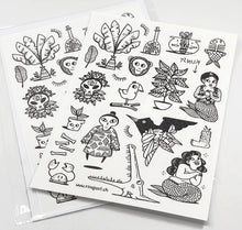 Laden Sie das Bild in den Galerie-Viewer, Rina Jost - Temporary Tattoos 2 (Restverkauf)