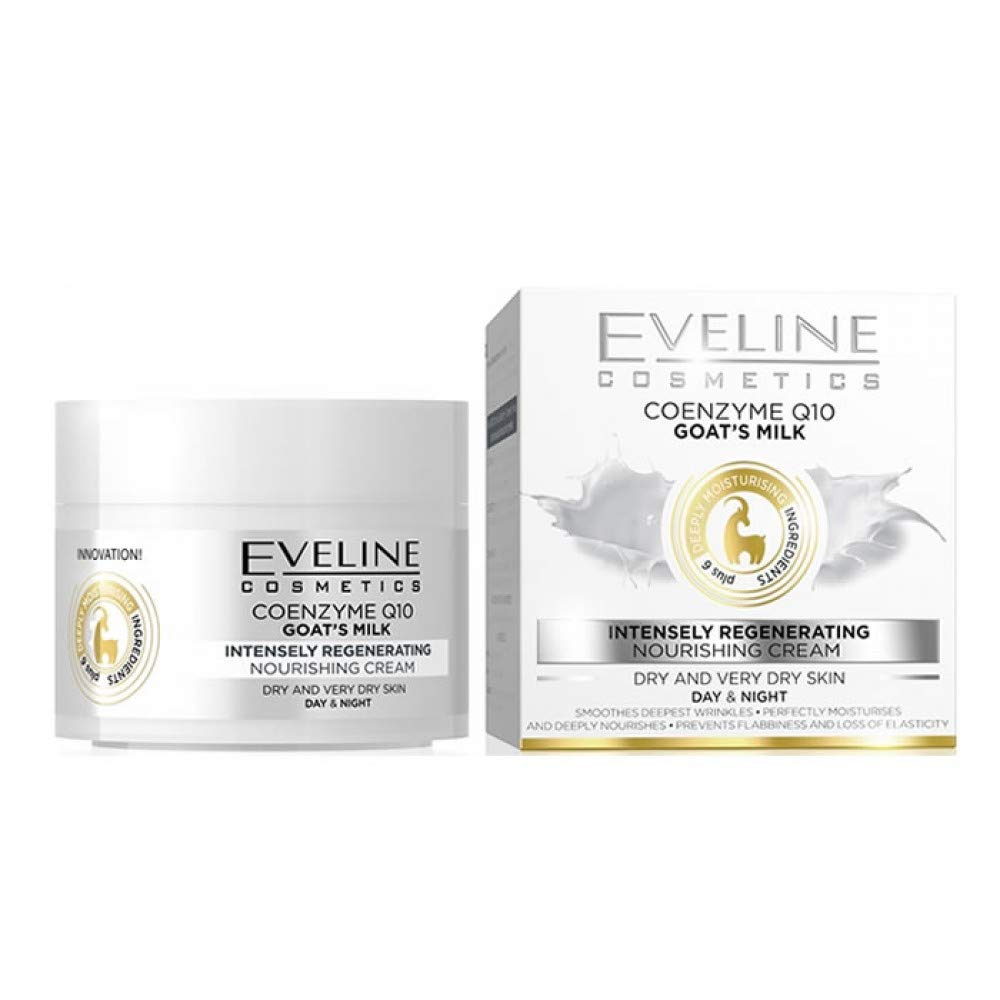 Eveline Cosmetics Coenzyme Q10 Goat's Milk Face Cream 50ml - EuroMax Foods The Good Food Store