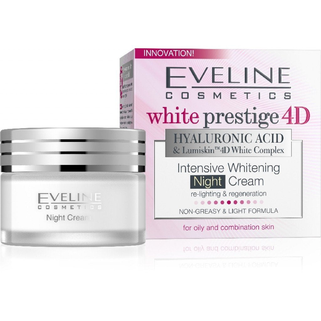 Eveline Cosmetics White Prestige 4D Intensive Whitening Night Cream 50ml - EuroMax Foods The Good Food Store