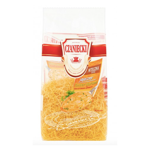 Czaniecki Pasta Amber Durum Niteczki Extra 250g - EuroMax Foods The Good Food Store