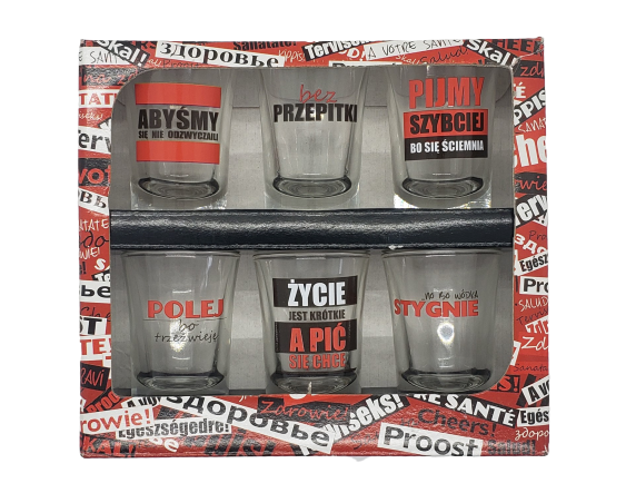 Vodka Glasses with Inscriptions - EuroMax Foods The Good Food Store