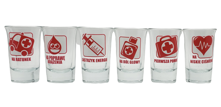Vodka Glasses Doctor Hospital Set - EuroMax Foods The Good Food Store
