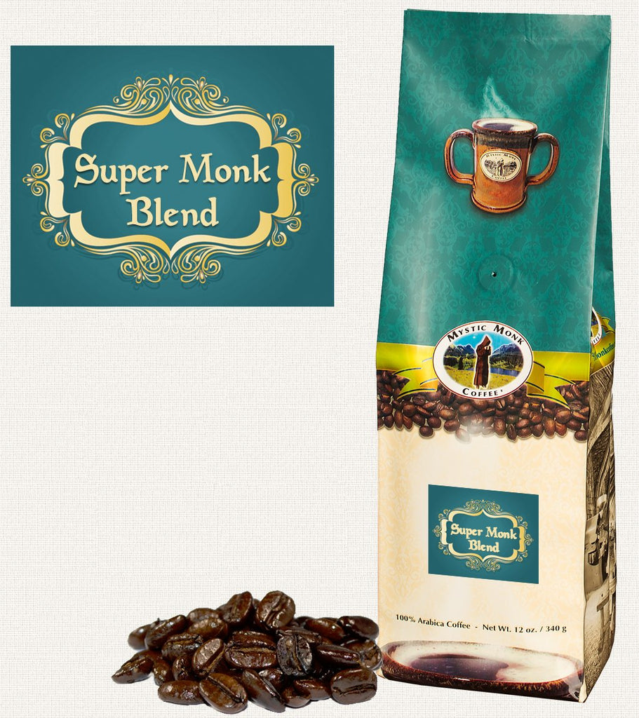 Super Monk Blend Whole Bean 12 Oz. - EuroMax Foods The Good Food Store