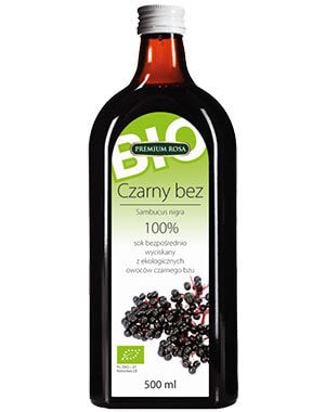 Premium Rosa Black Elderberry Juice BIO 100% 500ml - EuroMax Foods The Good Food Store