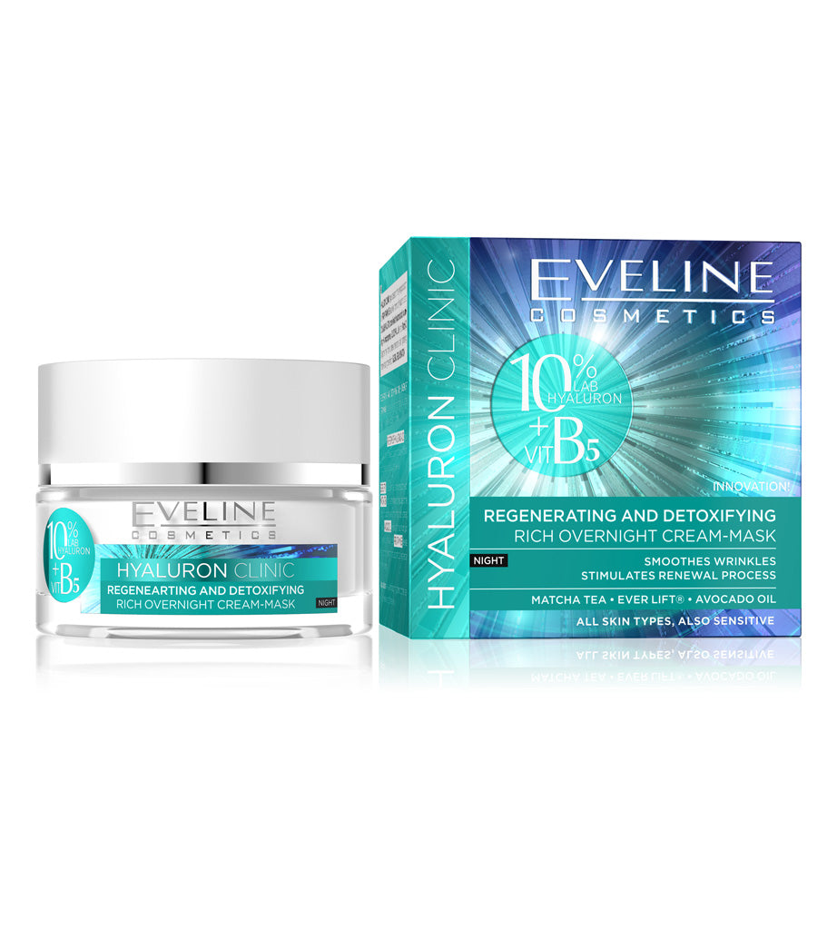 Eveline Cosmetics Hyaluron Clinic Night 50ml - EuroMax Foods The Good Food Store