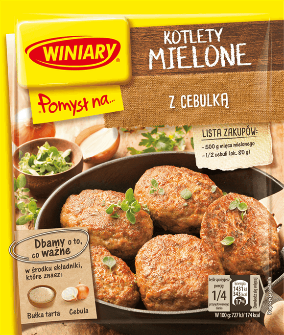 Winiary Idea for...Burgers with Onion 69g - EuroMax Foods The Good Food Store