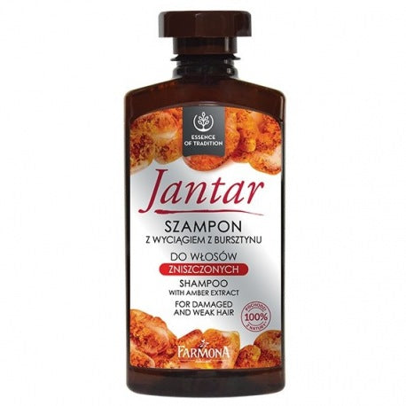 Farmona Jantar Shampoo with Amber Extract for Damaged and Weak Hair 330ml - EuroMax Foods The Good Food Store