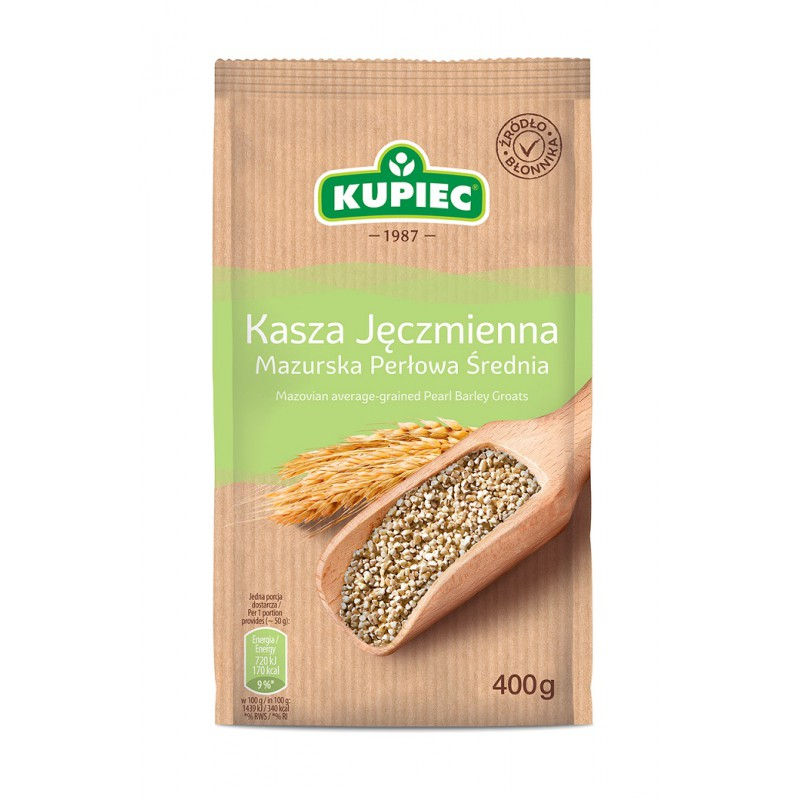Kupiec Masurian Barley Groats Medium 400g - EuroMax Foods The Good Food Store