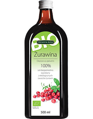 Premium Rosa Cranberry Juice BIO 100% 500ml - EuroMax Foods The Good Food Store