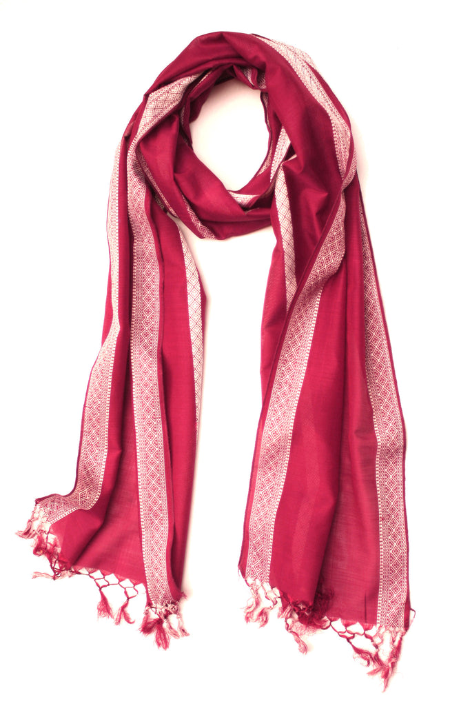 Deep Ruby Scarf