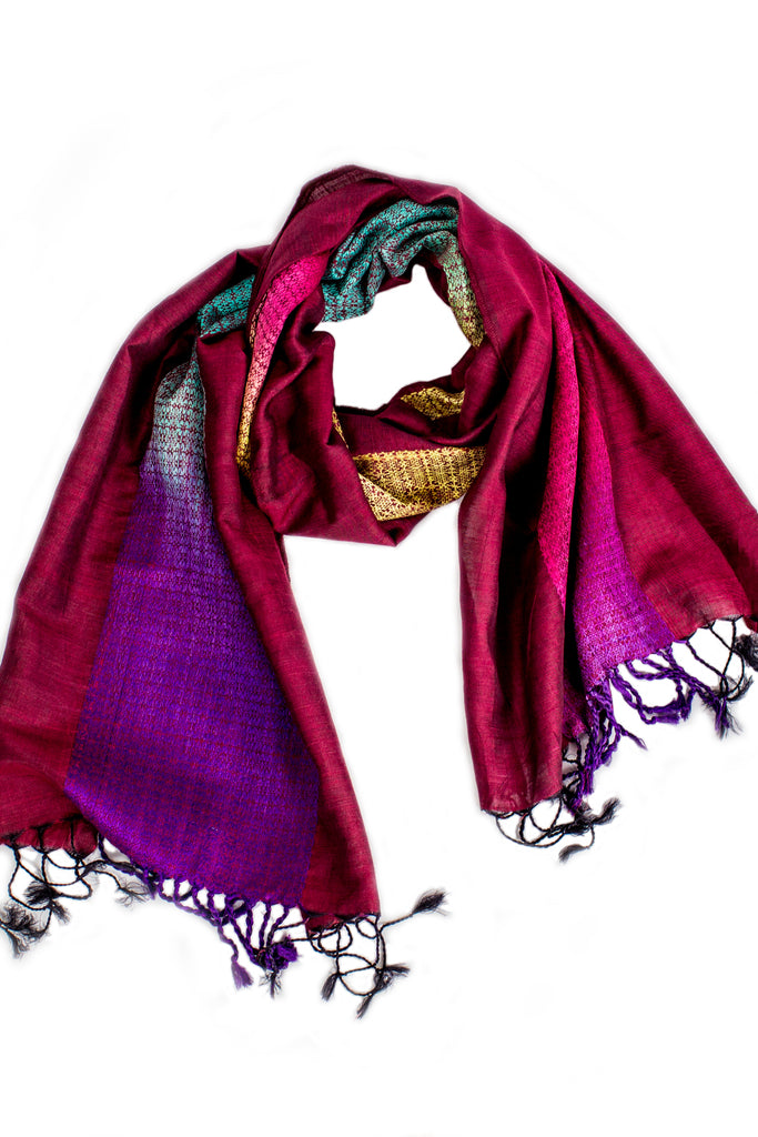 Open Road Scarf Maroon