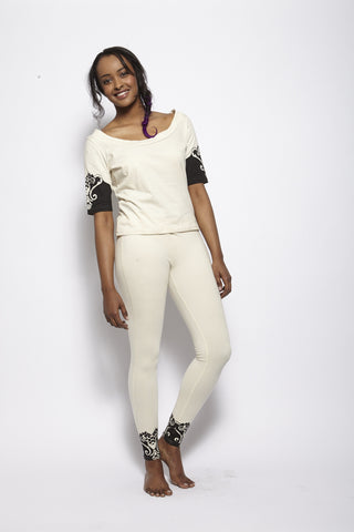 Oscillant Cream Legging