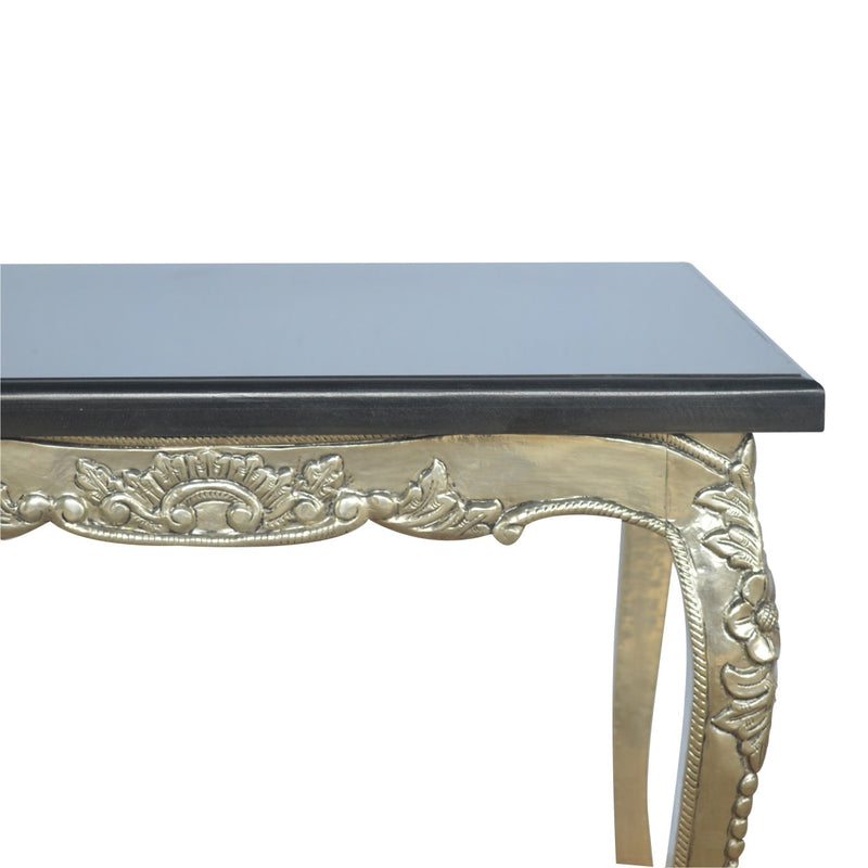 Handcrafted Coffee Table With Marble Top - HM_FURNITURE