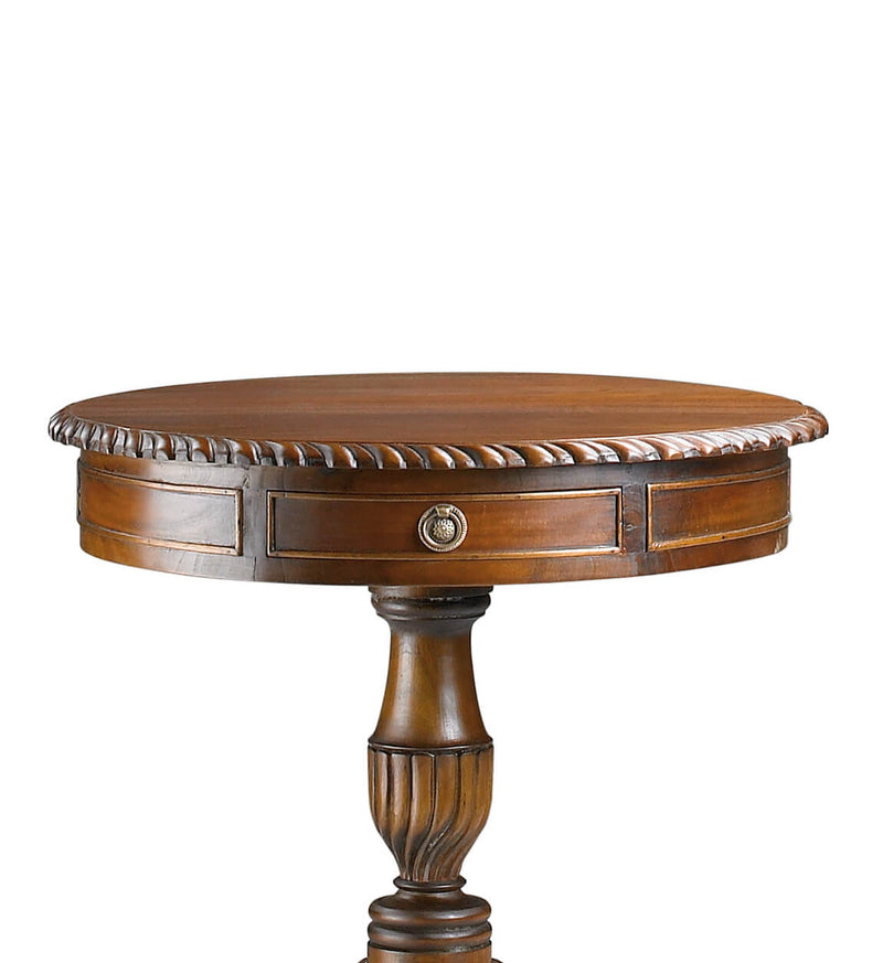 Chippendale 2 Drawers Round Table