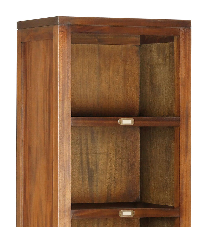 5 Tier Bookshelf, Mahogany Wood