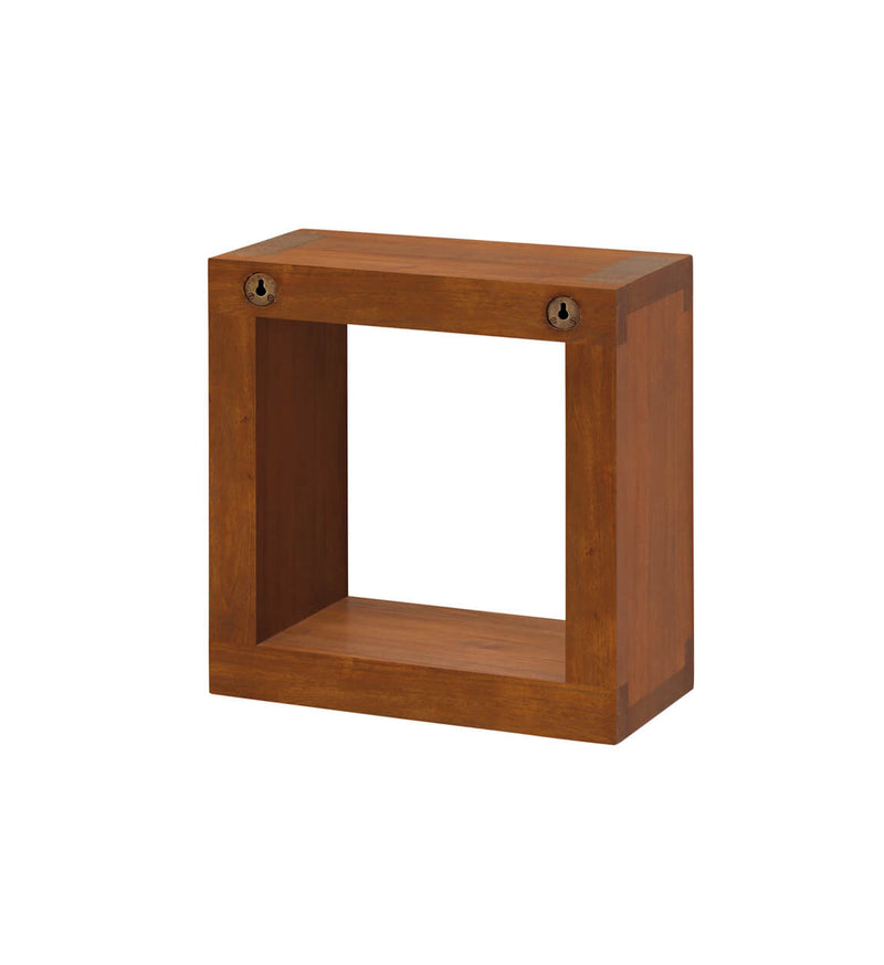 Mahogany Cube Shelf