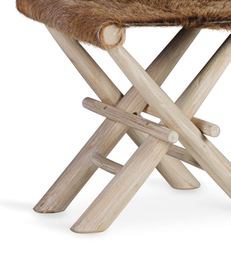 Rustic Leather Stool