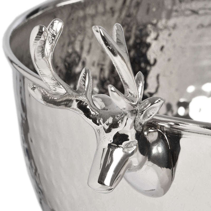 Stag Handles Nickel Drink Cooler