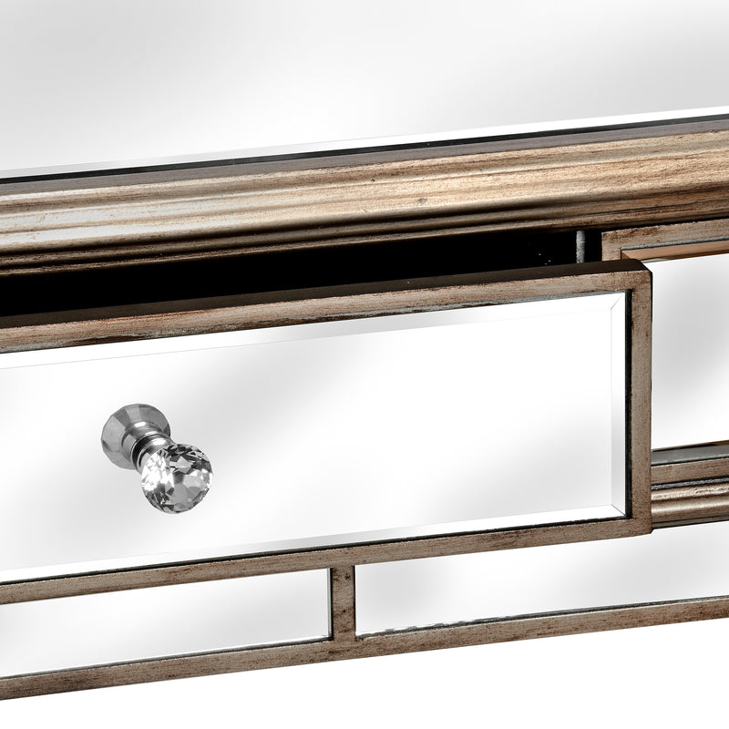 2 Drawer Mirrored Console Table