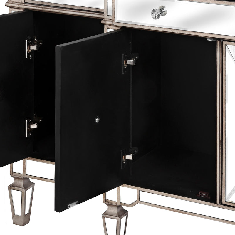 Mirrored Large Sideboard