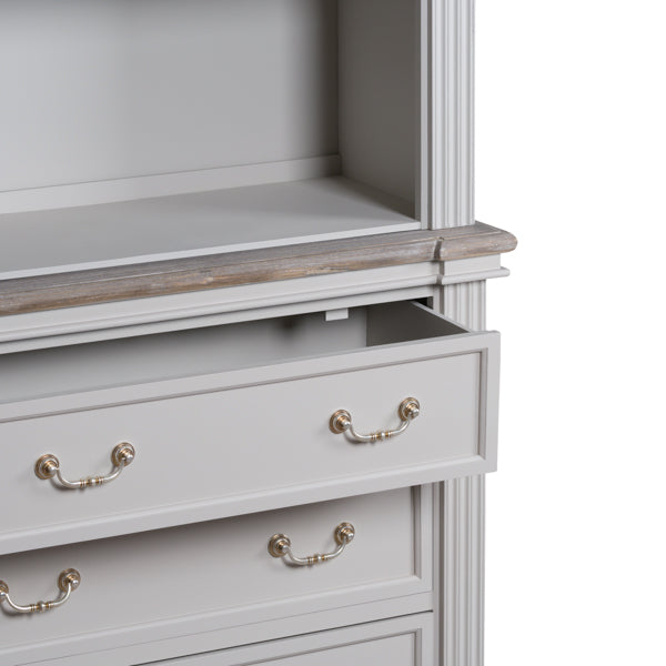 3 Drawers Bookcase, White