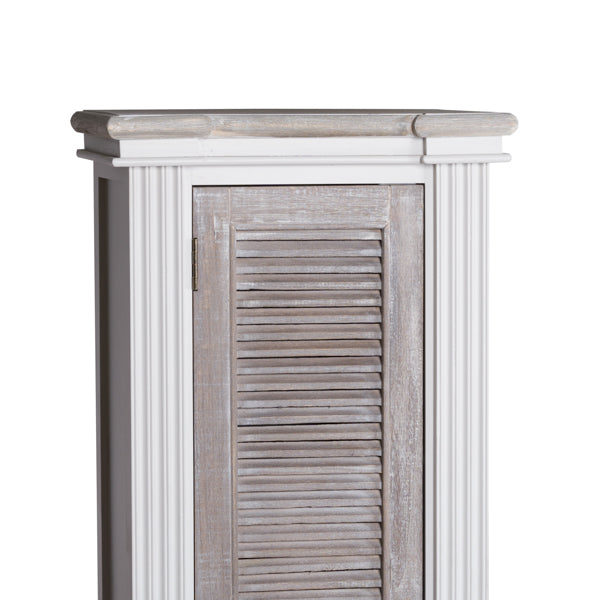 Handcrafted  Louvered Doors Tall Cabinet