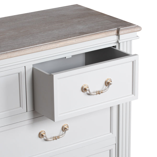 7 Drawers Chest, White