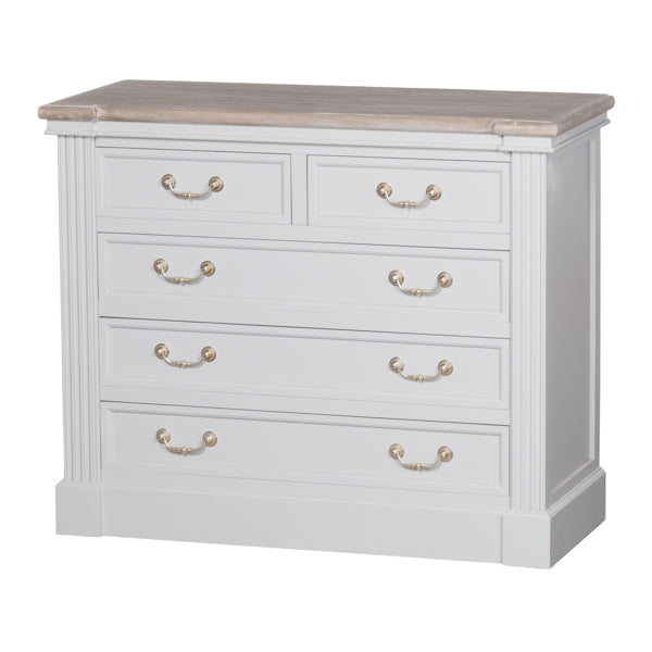 2 Over 3 Chest Of Drawers, White