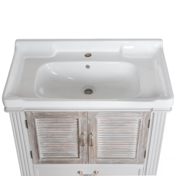 Louvered Doors Vanity Sink Unit