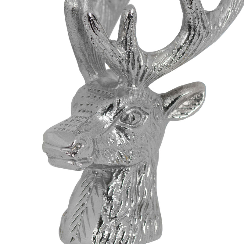Handmade Nickel Stag Head Bottle Stopper
