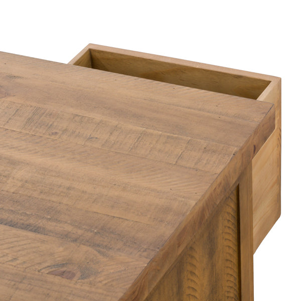 Handcrafted Solid Wood Six Drawer Coffee Table