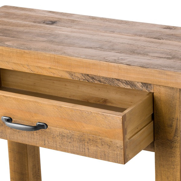 Handcrafted Solid Wood One Drawer Side Table